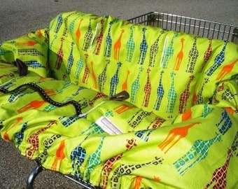 Shopping cart cover for boy or girl ......URBAN CIRCUS GIRAFFE Shopping Cart Cover