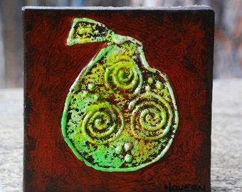 Studio Sale -- Pear original painting 6x6