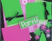 Birthday Party Girl Premade Scrapbook Pages 12x12