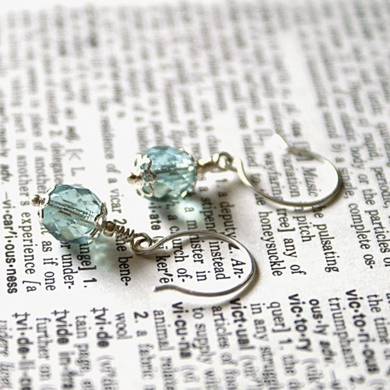 Blue Skies Sterling Silver Earrings