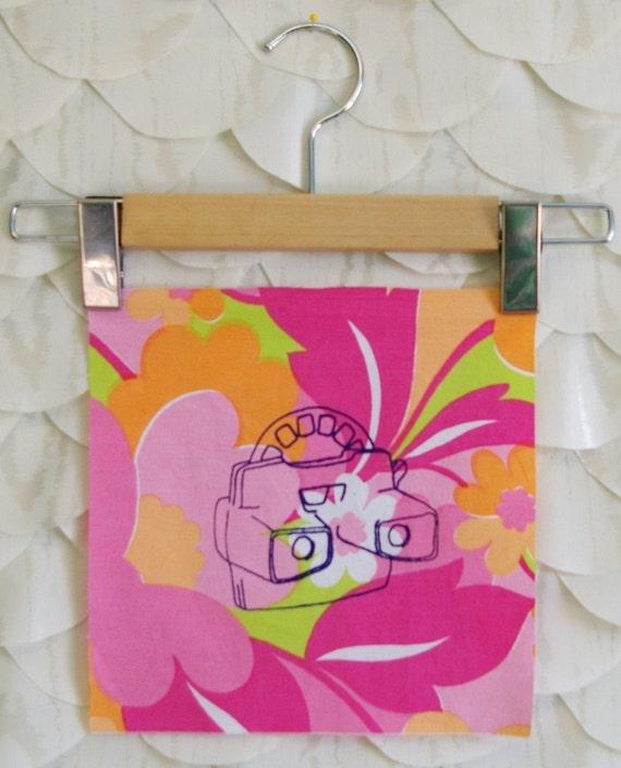 viewmaster - screenprinted fabric block