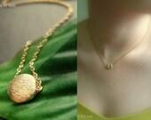 Sale - A little good karma  gold Necklace (silver optional)