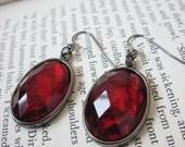 Vintage Red Victorian Earrings