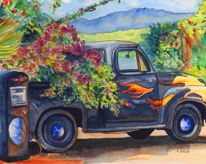 Hanapepe Truck 8x10 print from Kauai Hawaii