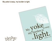 My yoke is easy and my burden is light - Christian Note Cards Set