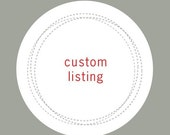 Custom Listing for AmberTaylor1
