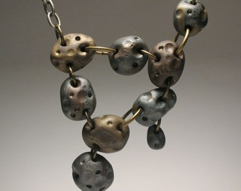 Asteroid Belt Necklace - OOAK, Polymer Clay Jewelry