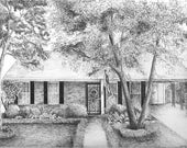 Custom Pen and Ink House for Leslie