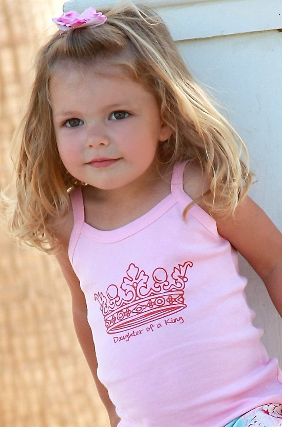 Princess Crown Pink Daughter of a King Tank Size 2T 3/4 or Sz 10 or 12 CLEARANCE SALE
