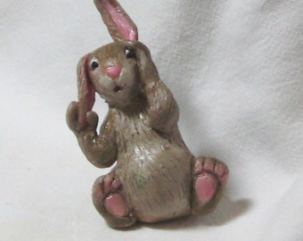 Peek a Boo Polymer Bunny