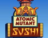 Mutant Sushi Googie Sign