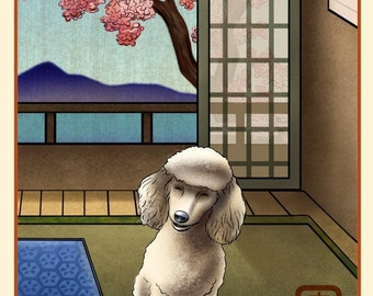 Poodle Japanese Styled Print