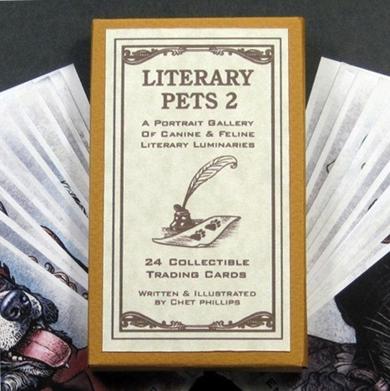 Literary Pets 2 Card Set