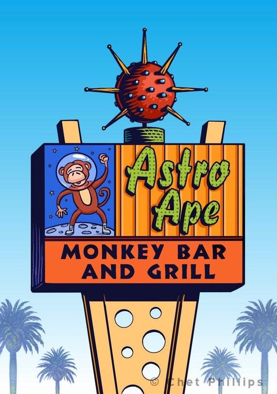 Astro Ape Googie Sign