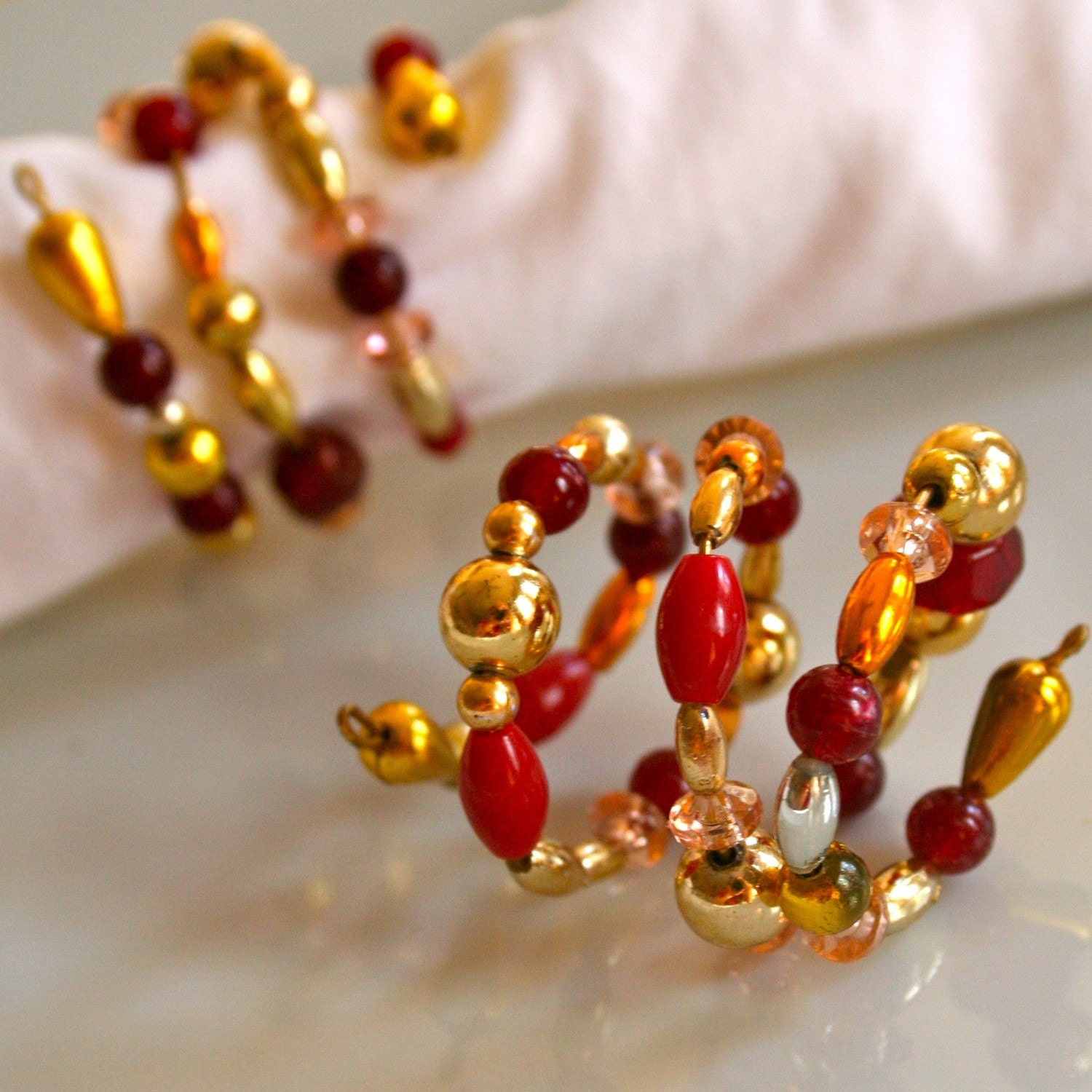 Etsy Beaded Napkin Rings