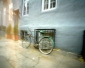 Pinhole photograph and postcard - Bicycle in SOHO