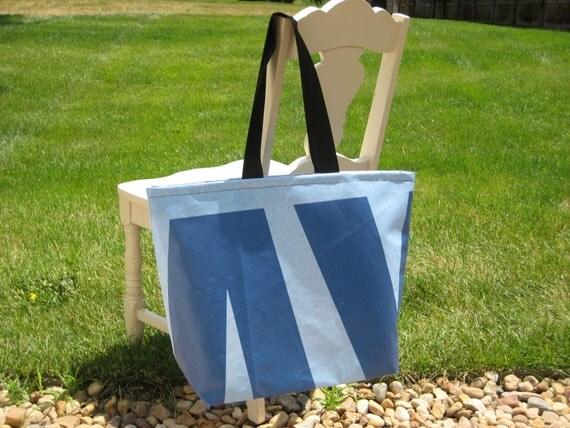 Reclaimed Banner Bag - Blue