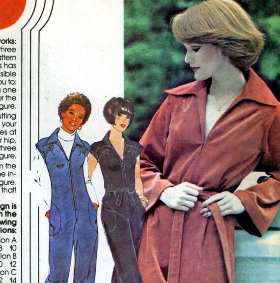 McCalls 5265, Vintage Jumpsuit Pattern, Size 10 12 14 Uncut Sewing Pattern 1976