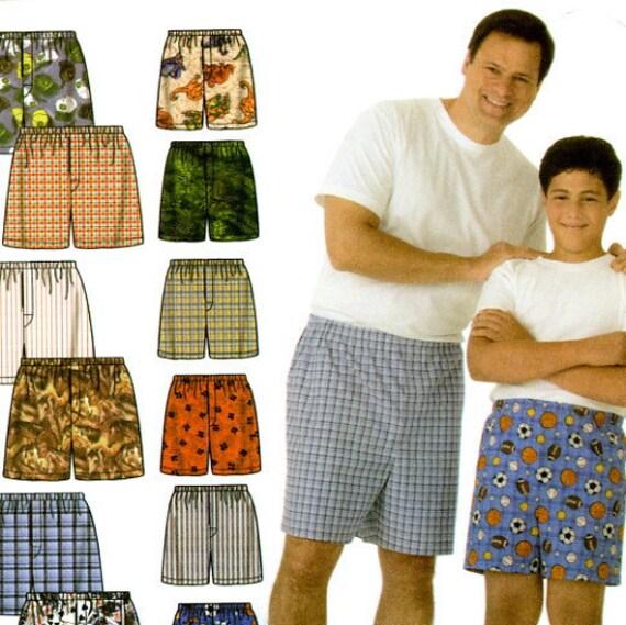 Simplicity 4758 Husky Boys Big and Tall Mens Boxer Shorts All