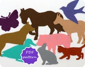 Felt Farm Animals Pdf Pattern for Flannel Board - Instant Download