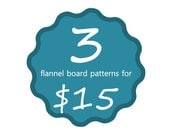 Three Flannel Board Pdf Patterns for Story Board Play