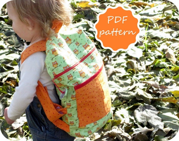 Toddler Child Backpack Pdf Pattern in Two Sizes