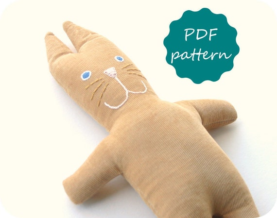 Bunny Plush Toy Pdf Pattern - Instant Download