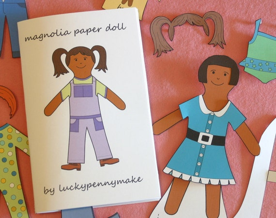 Magnolia Paper Doll Book Printable PDF Pattern - Instant Download