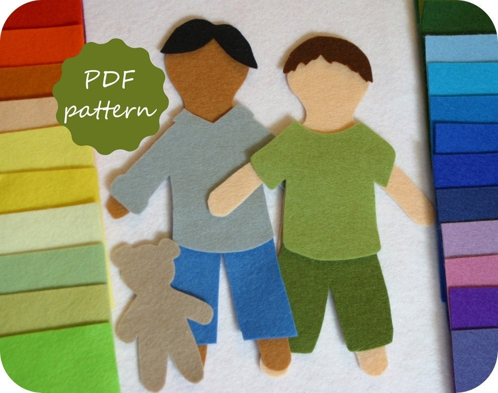 Elliott Felt Paper Doll Pdf Pattern For Flannel Board