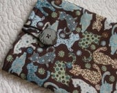 Kindle Fire/Kindle Keyboard/Nook Color/Nook Tablet/Kindle Sleeve -- Blue and Brown Cats -- Will make to fit any E-Reader