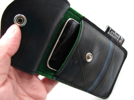 iphone and ipod touch Sleeve Sculpted from Recycled Truck Tire