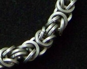Men's stainless steel square wire chainmaille bracelet - Storm - nicolehill