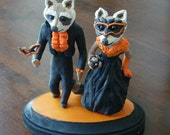 Mr. & Mrs. Raccoon arrive at Halloween Ball - Made to Order