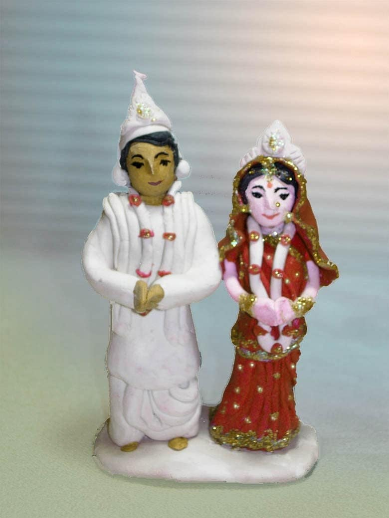 Bengali Wedding Cake Topper