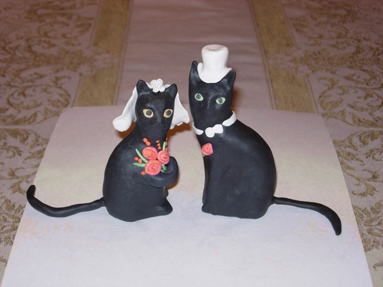black cat wedding cake toppers cat wedding cake topper custom made 11859