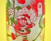 Viintage Tumblers, Strawberry Shortcake Glasses, Cartoon Character
