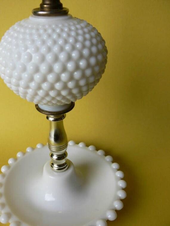 Gorgeous Hobnail Milk Glass Lamp