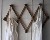 wooden peg rack