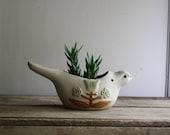 vintage hanging bird planter