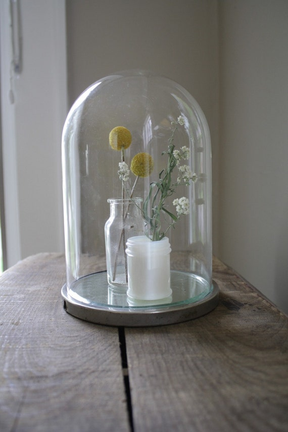 vintage dome with mirrored base