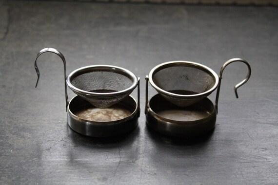 vintage tea strainers tea bag holder