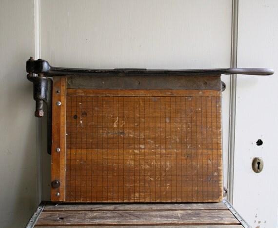 antique industrial paper cutter