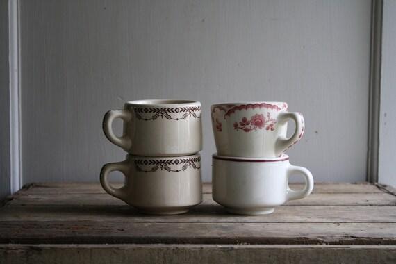 ON HOLD vintage diner mugs