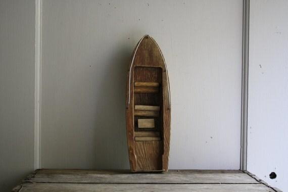 RESERVED LISTING vintage wooden toy boat