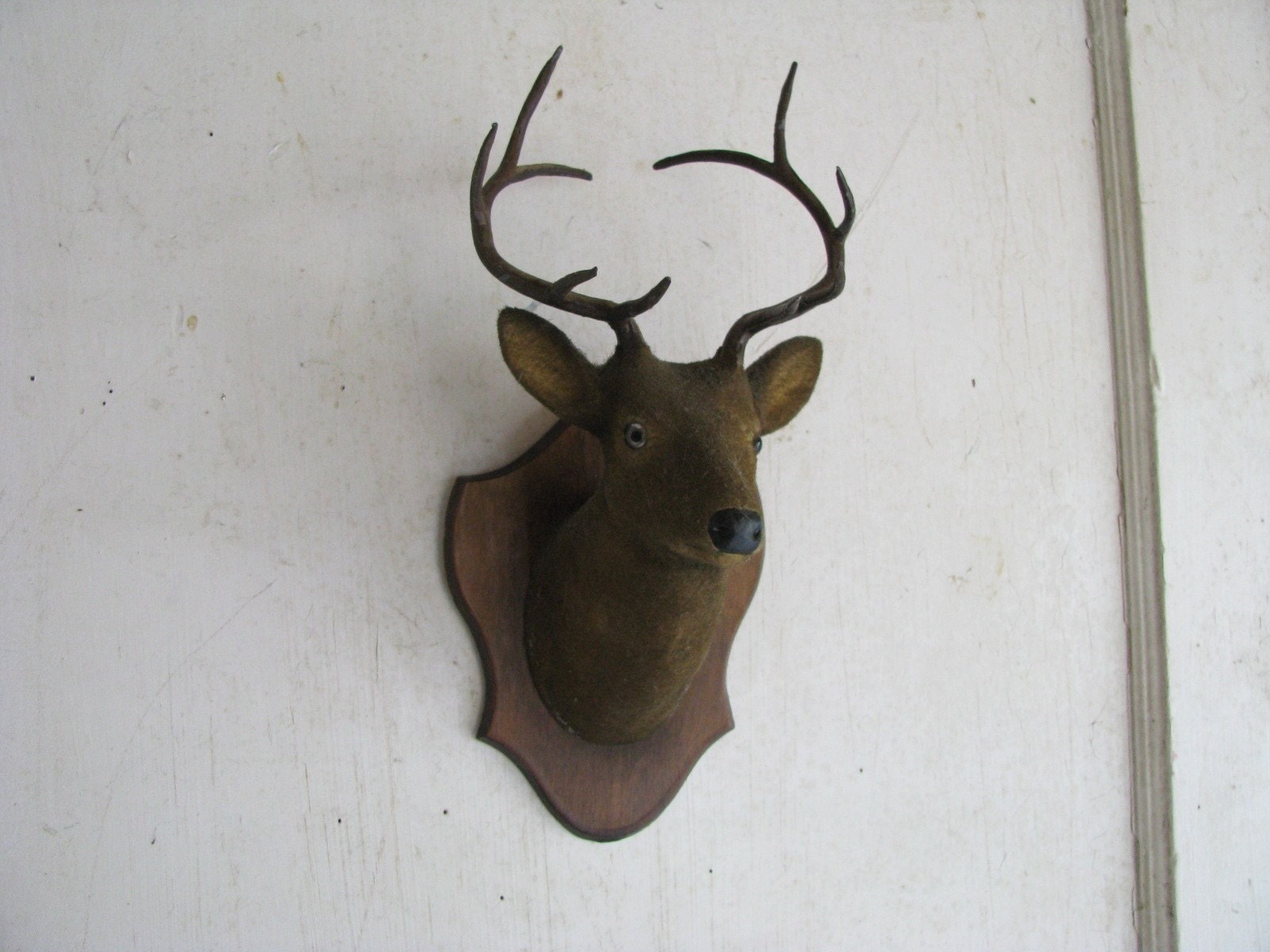 Handcrafted Faux Stag Head Mounted