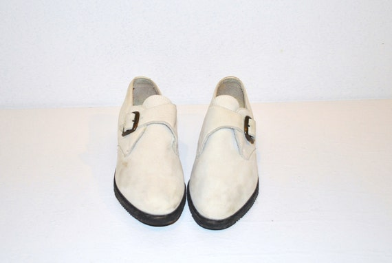 80s shoes // soft white suede // punk rock vintage shoes