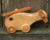 Kids Wooden Toy Helicopter - Kids Handmade Natural Wood Childrens Toy