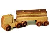 Wooden Semi Truck - Lumber Truck