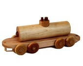 Wooden Train Tanker Car