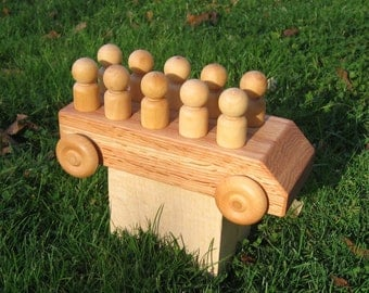 Wood Toy Bus